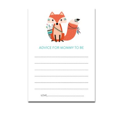 Baby-Shower-Printable-Tribal-Fox-Advice-For-Mommy