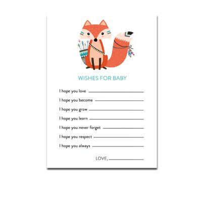 Baby-Shower-Printable-Tribal-Fox-Wishes-For-Baby