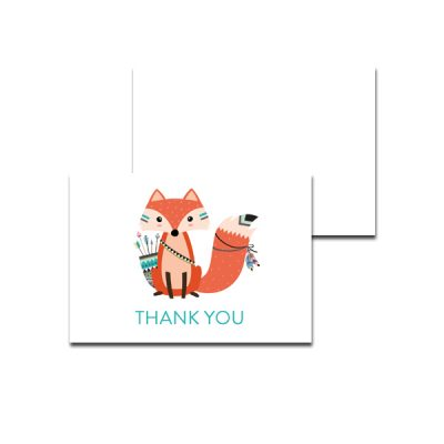 Baby-Shower-Printable-Tribal-Fox-Thank-You-Card