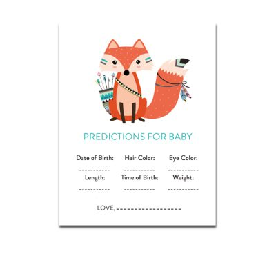 Baby-Shower-Printable-Tribal-Fox-Predictions-For-Baby