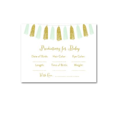 Baby-Shower-Printable-Mint-Gold-Tassel-Predictions-For-Baby