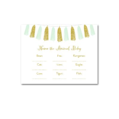 Baby-Shower-Printable-Mint-Gold-Tassel-Name-Animal-Baby