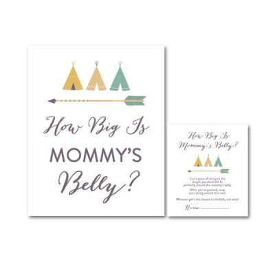 Baby-Shower-Arrow-Tribal-How-Big-Is-Mommys-Belly