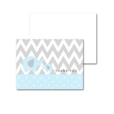 Baby-Shower-Printable-Blue-Gray-Elephant-Thank-You-Card