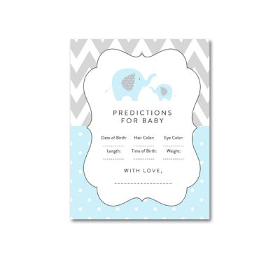 Baby-Shower-Printable-Blue-Gray-Elephant-Predictions