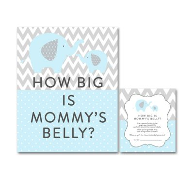Baby-Shower-Printable-Blue-Gray-Elephant-How-Big-Mommys-Belly