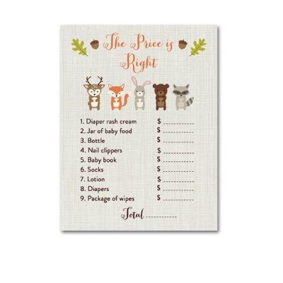 Woodland-Animals-Baby-Shower-Price-Is-Right
