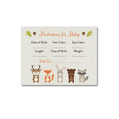 Woodland-Animals-Baby-Shower-Predictions-For-Baby