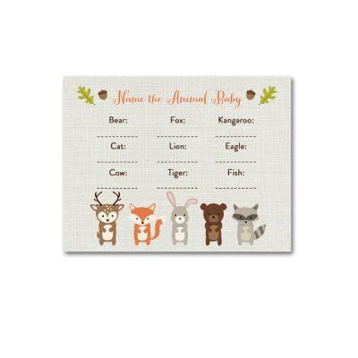 Woodland-Animals-Baby-Shower-Name-Animal-Baby