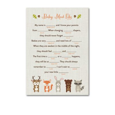 Woodland-Animals-Baby-Shower-Mad-Libs