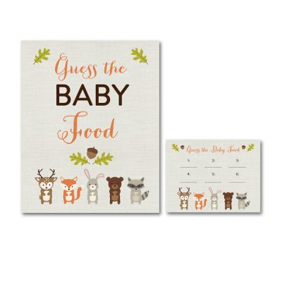 Woodland-Animals-Baby-Shower-Guess-Baby-Food
