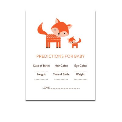 Baby-Shower-Cute-Woodland-Fox-Predictions-For-Baby