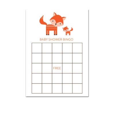 Baby-Shower-Cute-Woodland-Fox-Bingo