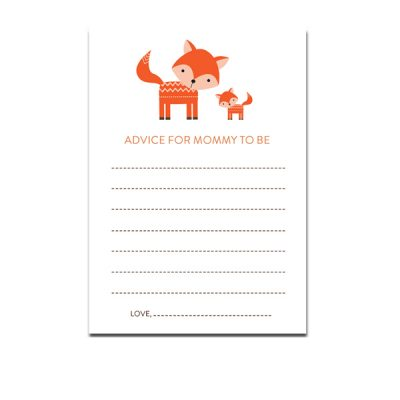 Baby-Shower-Cute-Woodland-Fox-Advice-For-Mommy