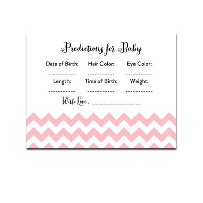 Baby-Shower-Pink-Chevron-Predictions-For-Baby