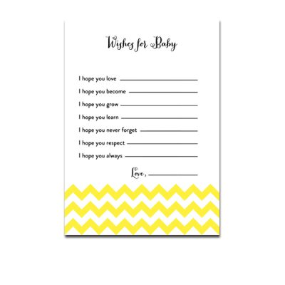 Baby-Shower-Yellow-Chevron-Wishes-For-Baby
