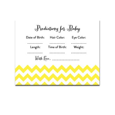 Baby-Shower-Yellow-Chevron-Predictions-For-Baby