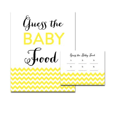 Baby-Shower-Yellow-Chevron-Guess-Baby-Food