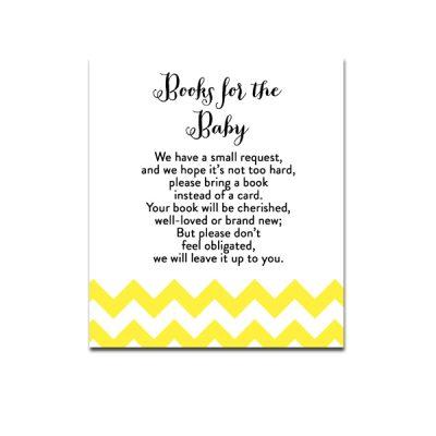 Baby-Shower-Yellow-Chevron-Books-For-Baby