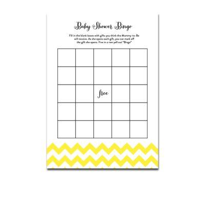 Baby-Shower-Yellow-Chevron-Bingo