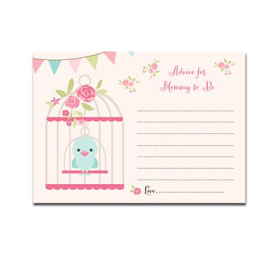 Baby-Shower-Bird-Cage-Advice-For-Mommy