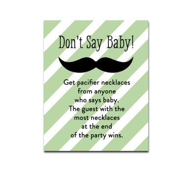 Green-Mustache-Dont-Say-Baby