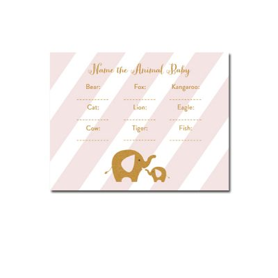 Baby-Shower-Pink-Gold-Elephant-Name-The-Animal-Baby