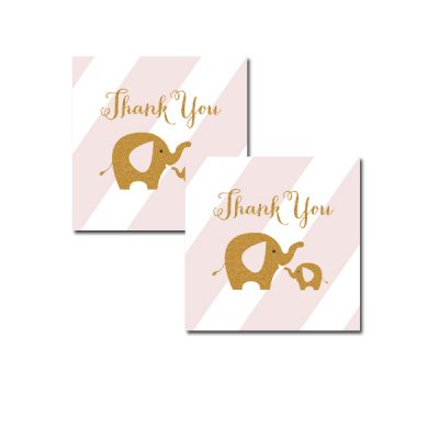 Baby-Shower-Pink-Gold-Elephant-Thank-You-Tags