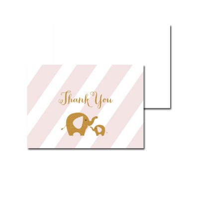 Baby-Shower-Pink-Gold-Elephant-Thank-You-Card