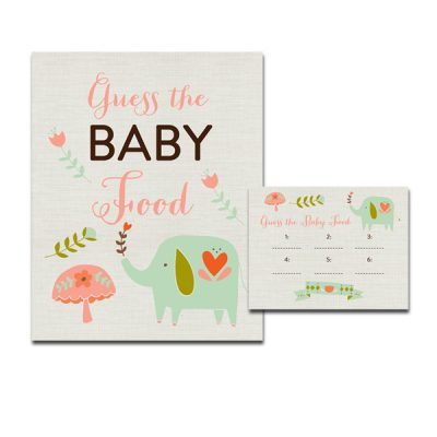 Aqua-Elephant-Baby-Shower-Game-Guess-Baby-Food