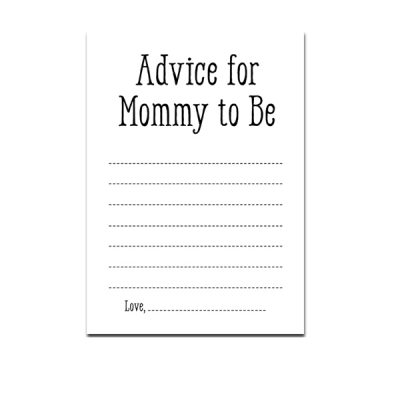 baby-shower-black-white-advice-for-mommy