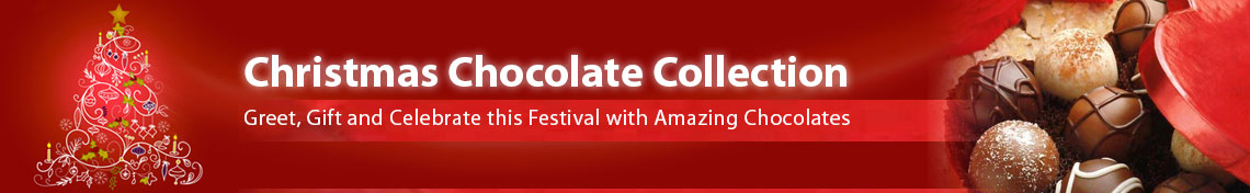 Buy Christmas chocolate gifts online in India, send chocolate gifts to any city in India