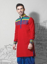 Superior Red kurta set