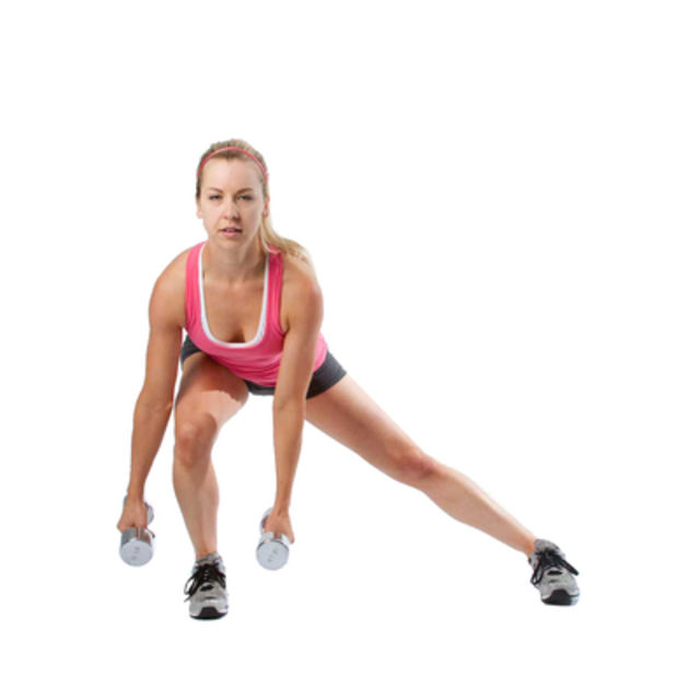 How to do: Lateral Lunge and Shoulder Raise - Step 1