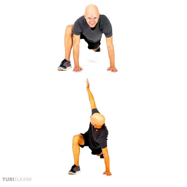 Walking Lunge With T Spine Twist Exercise How To Workout Trainer
