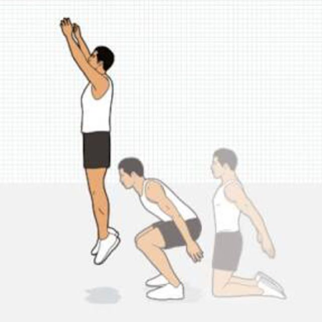 Kneeling Squat Jump Exercise How To Workout Trainer By
