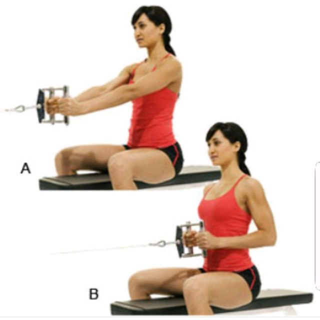 Image result for woman Seated Close Grip Rows