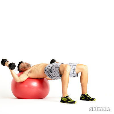 Stability Ball Dumbbell Flys