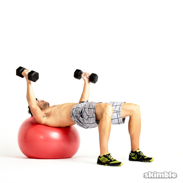 How to do: Dumbbell Fly - Step 2