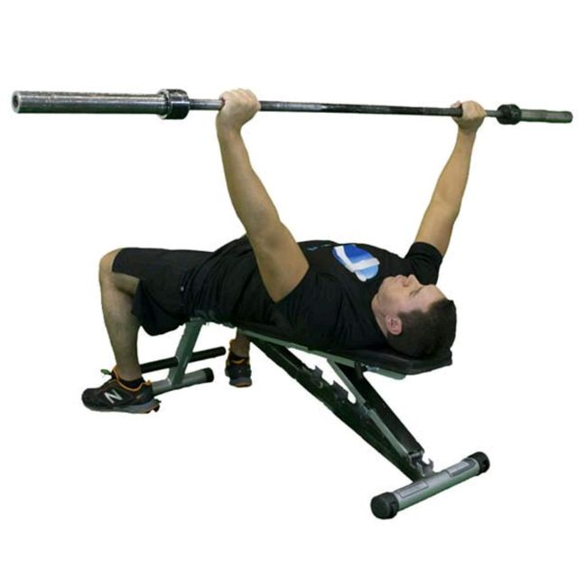 Bench Press Barbell Dumbbell: Barbell Wide Grip Bench Press
