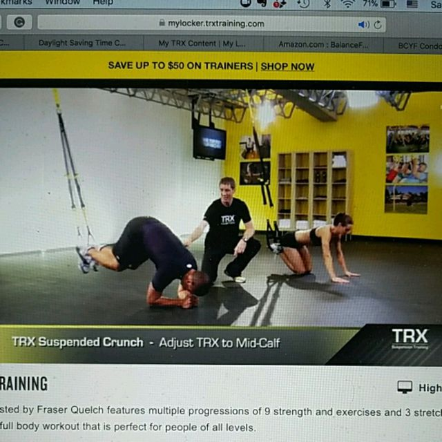 Trx Suspended Crunch Exercise How To Workout Trainer By Skimble