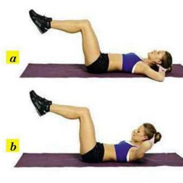 Stability Ball Knee Crunches: Crunches High Knees