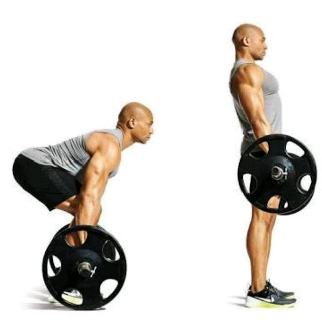 Barbell Military Press: Barbell Deadlift (Cable)