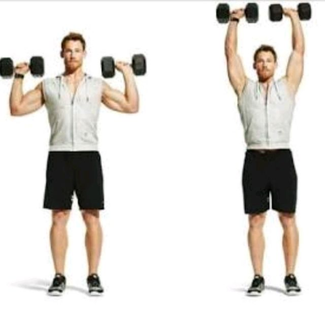Dumbell Military Press The Dumbell Military Press Is A