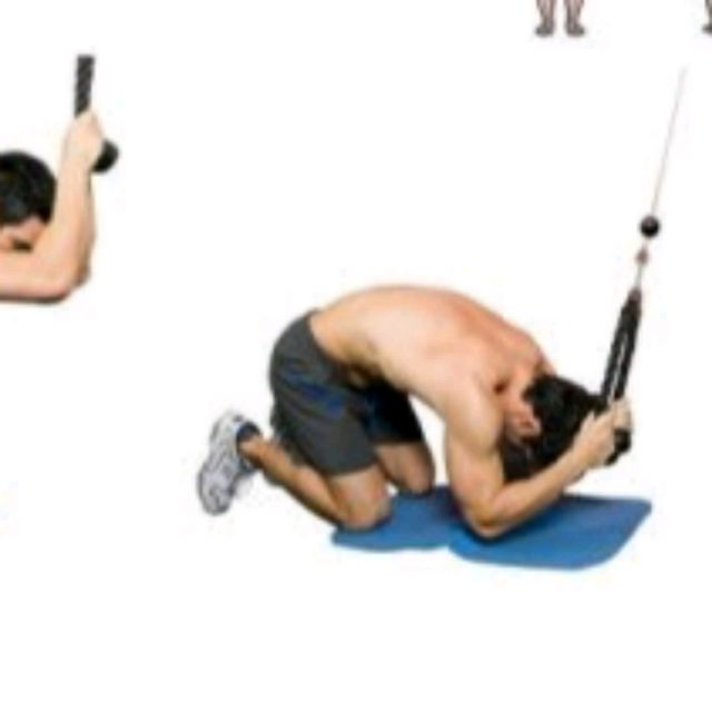 rope pull down ab crunch exercise how to workout trainer by skimble