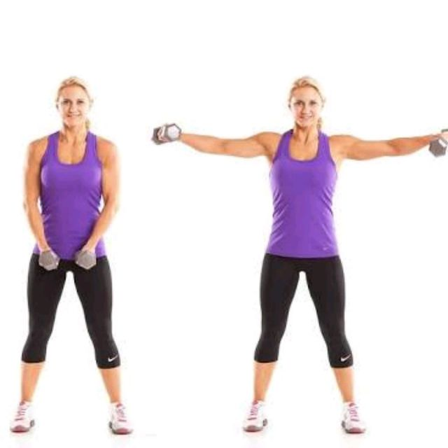 Resistance Bands Upright Row: Dumbbell Lateral Raise
