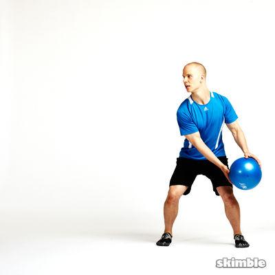 Side Squat Ball Toss