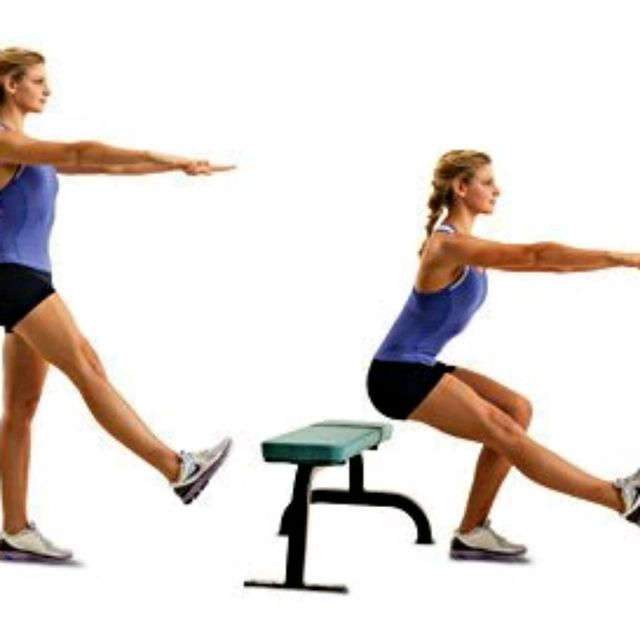 Stability Ball Instead Of Bench: Single Leg Squat To Bench