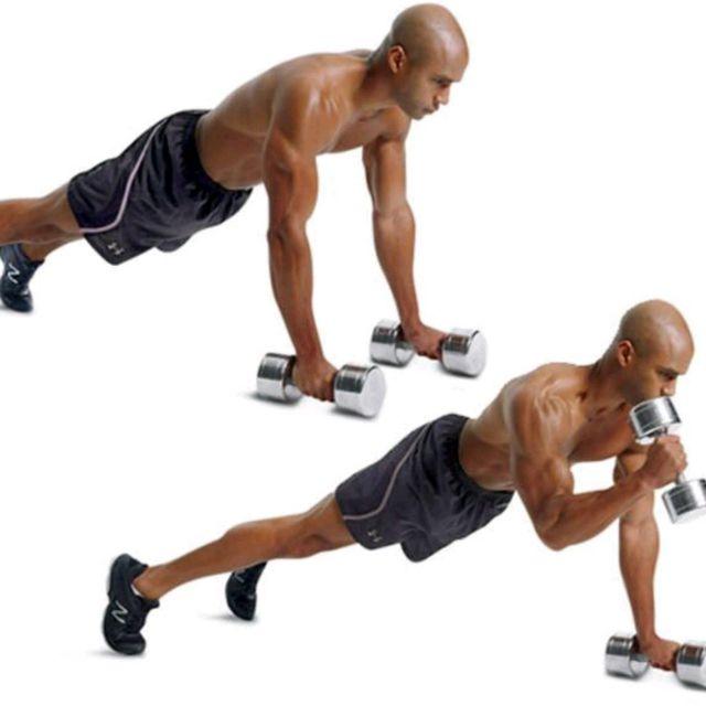 نتيجة بحث الصور عن Plank With Biceps Curl