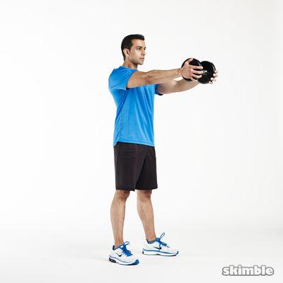 6 Vertical Goblet Squats